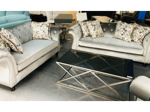 SIENNA GREY LOUNGE SUITE 3 + 2 + 1 SEATER