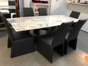 VENESA MARBLE EXTENSION DINING TABLE