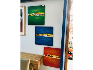 3 PANEL OIL PAINTING (60 X 60 - SOLD AS A SET OF 3)
