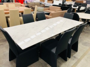 VANNES 2.2M MARBLE DINING TABLE - TABLE ONLY